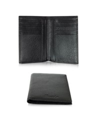 Pineider Country Black Leather Vertical Wallet