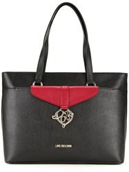 Love Moschino Double Handles Medium Tote Black