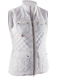Abacus Holmen Quilted Gilet White