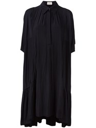 Lanvin Frilled Hem Shirt Dress Blue