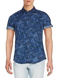 Ck Calvin Klein Regular Fit Confetti Camo Print Shirt Blue
