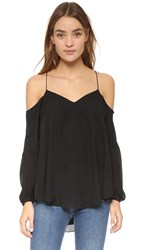 Haute Hippie Cold Shoulder Blouse Black