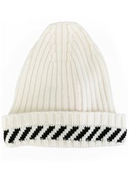 Off White 'Diagonals' Beanie White