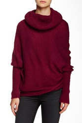 Wooden Ships Asymmetrical Cowl Neck Sweater Pink