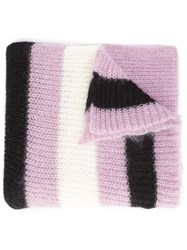 Undercover Ribbed Knit Scarf Pink Purple