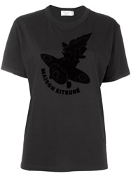 Maison Kitsune 'Airman' T Shirt Black