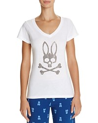 Psycho Bunny V Neck Tee Bright White