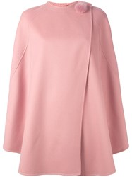 Ermanno Scervino Pom Pom Detail Cape Pink And Purple