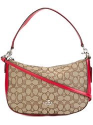 Coach Removable Strap Shoulder Bag Nude And Neutrals