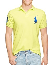 Polo Ralph Lauren Big Pony Trim Fit Mesh Polo Neon Yellow