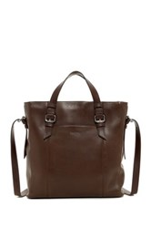 Cole Haan Leather North South Shopper Brown