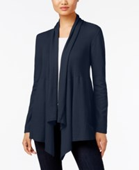 Styleandco. Style Co. Ribbed Open Front Cardigan Only At Macy's Industrial Blue