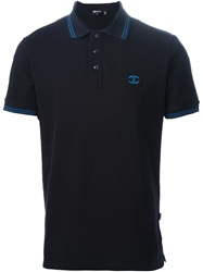 Just Cavalli Logo Embroidered Polo Shirt Black