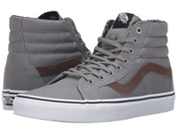 Vans Sk8 Hi Reissue Cord And Plaid Frost Gray True White Skate Shoes
