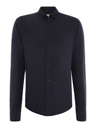 Only And Sons Oxford Long Sleeve Shirt Dark Navy