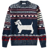 Thom Browne Fair Isle Hector Crew Knit Blue