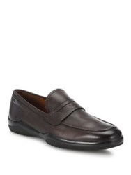 Bally Michigan Leather Loafers Coffee