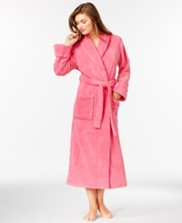 Charter Club Petite Supersoft Long Robe Carmine Rose