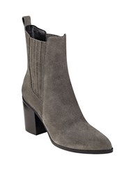 Marc Fisher Alisa Suede Booties Dark Grey