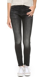 7 For All Mankind The High Waisted Skinny Jeans Vintage Black