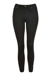 Topshop Petite Black Coated Jamie Jean