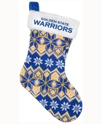 Forever Collectibles Golden State Warriors Ugly Sweater Knit Team Stocking Blue