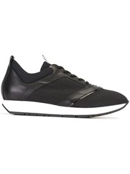 Dirk Bikkembergs Textured Panel Sneakers Black
