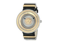 Versace V Metal Icon Vlc02 0014 Stainless Steel Rose Gold Black Watches