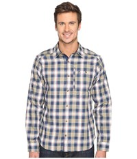Fjall Raven Fjallglim Shirt Blueberry Men's Long Sleeve Button Up