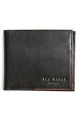 Ted Baker Men's London 'Carouse' Bifold Leather Wallet Black