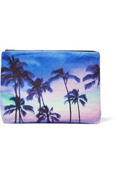 Samudra Lost In Paradise Printed Cotton Canvas Pouch Violet