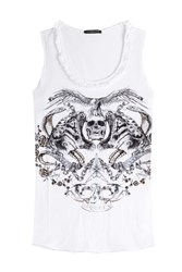 Alexander Mcqueen Printed Cotton Tank White