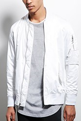 Forever 21 Members Only Bomber Jacket White