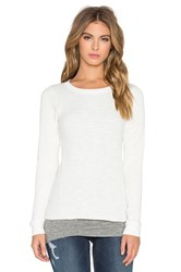 Monrow Double Layer Thermal Top White