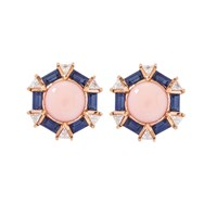 Joana Salazar The Vintage Coral Earrings Rose Gold