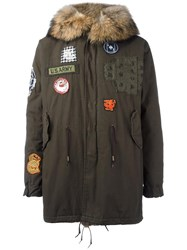 As65 Patched Parka Coat Green