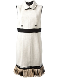 Chanel Vintage Classic Straight Waist Dress Nude And Neutrals