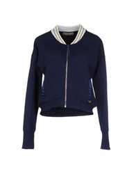 Met And Friends Topwear Sweatshirts Women Dark Blue