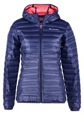 Columbia Flash Forward Down Jacket Nocturnal Hot Coral Dark Blue