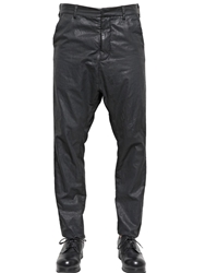 Alexandre Plokhov Waxed Cotton Bemberg Long Drop Trousers Black