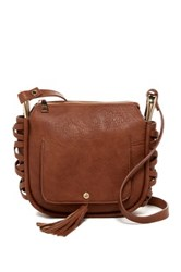 Steve Madden Hadley Lace Up Crossbody Bag Brown