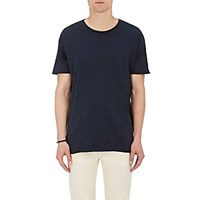 Nudie Jeans Men's Organic Cotton Raw Edge T Shirt Blue
