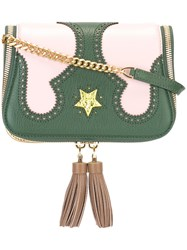 The Volon Brogue Detailing Crossbody Bag Green