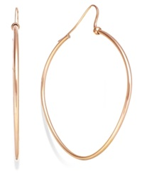 Sis By Simone I Smith Precious Fruit Oval Hoop Earrings In 18K Rose Gold Over Sterling Silver