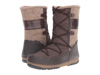 Tecnica Moon Boot W.E. Vienna Felt Dark Brown Beige Women's Boots