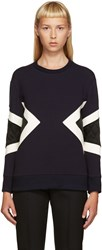 Neil Barrett Navy Modernist Pullover