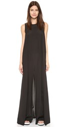 Dkny Sleeveless Wide Leg Jumpsuit Black