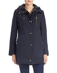 Vince Camuto Packable Fitted Coat Navy Blue