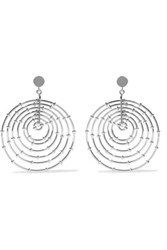 Arme De L'amour White Gold Plated Earrings Silver