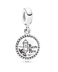 Pandora Design Pandora Dangle Charm Sterling Silver Unforgettable Moment Puerto Rico Moments Collection